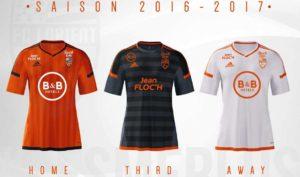 FC Lorient 2017 les maillots de football