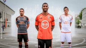 FC Lorient 2017 nouveaux maillots de foot Adidas