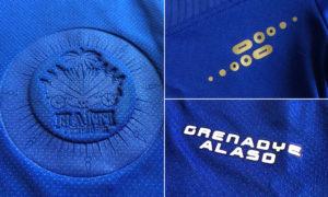 Haiti 2016 details maillot domicile Copa Amercia Centenario