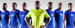 Haiti 2016 maillot domicile et gardien Copa Amercia Centenario