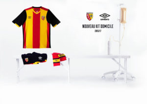 RC Lens 2017 maillot de foot domicile Umbro