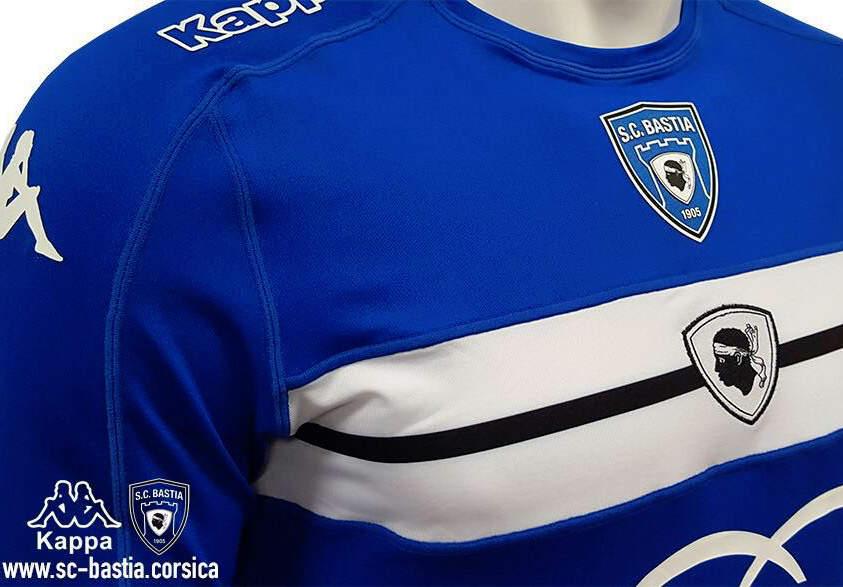 SC Bastia 2017 les maillots de football 2016-2017 par Kappa