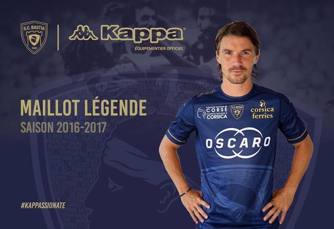 SC Bastia 2017 maillot third officiel maillot légende