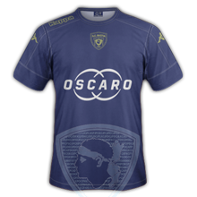SC Bastia 2017 troisieme maillot third légende