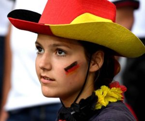 belle allemande supportrice euro 2016