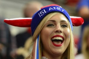 belle islandaise supportrice EURO 2016