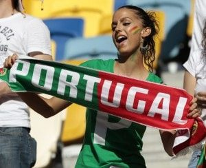 belle portugaise supportrice euro 2016