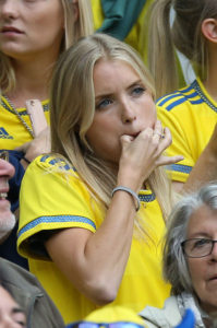belle suédoise supportrice Euro 2016