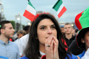 belle supportrice italienne euro 2016