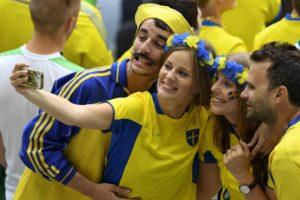 deux supportrice suédoises Euro 2016
