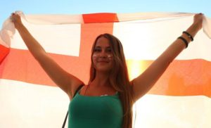 jolie anglaise supportrice euro 2016