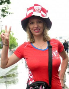 jolie supportrice croate Euro 2016