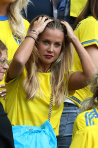 jolie supportrice suédoise Euro 2016