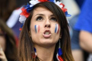 sexy supportrice france euro 2016
