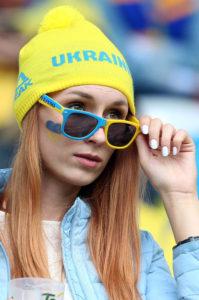 supportrice Euro 2016 ukrainienne