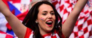 supportrice croate de l Euro 2016