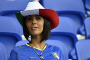 supportrice italienne Euro 2016