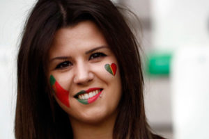 supportrice portugaise Euro 2016