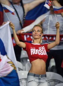 supportrice sexy russe Euro 2016