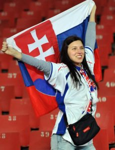 supportrice slovaque Euro 2016