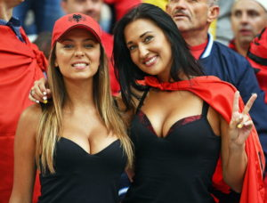 supportrices albanaises sexy Euro 2016