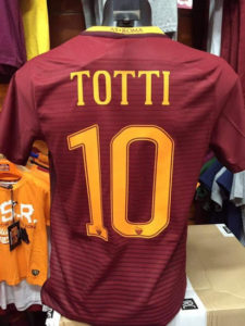 AS Roma 2017 dos du maillot flocage Totti