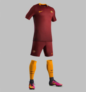 AS Roma 2017 tenue de foot 2016-2017 short chaussettes