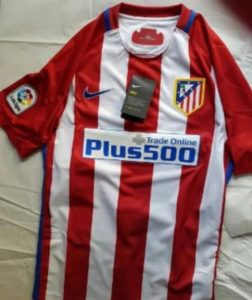 Atletico Madrid 2017 maillot domicile foot 2016 2017