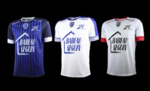 ESTAC 2017 nouveaux maillots de football Troyes 2016-2017