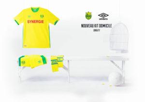 FC Nantes 2017 maillot de foot domicile Umbro