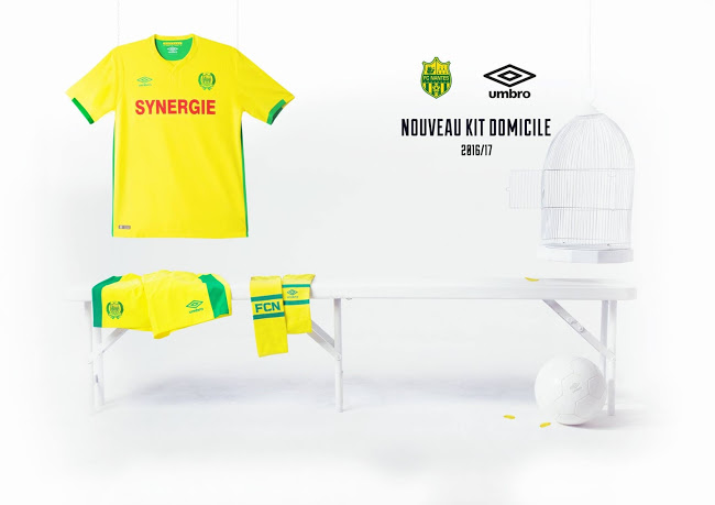 Umbro officialise les maillots FC Nantes 2017