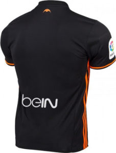 FC Valencia 2017 dos maillot exterieur