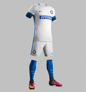 Inter Milan 2017 tenue de football complète extérieure blanche
