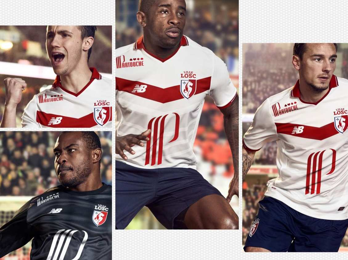 losc 2017 les maillots de lille par new balance maillots foot actu. Black Bedroom Furniture Sets. Home Design Ideas