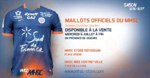 MHSC 2017 maillot domicile foot Montpellier HSC