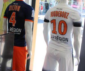 Montpellier 2017 dos des maillots de foot 16-17