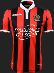Nice 2017 maillot domicile foot Macron