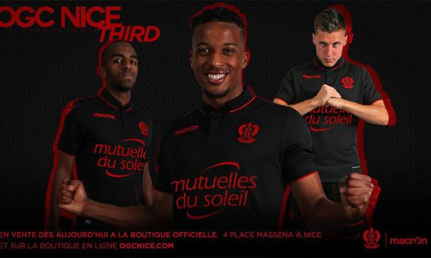 OGC Nice 2017 les nouveaux maillots de Macron