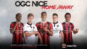OGC Nice maillots de foot 2016 2017