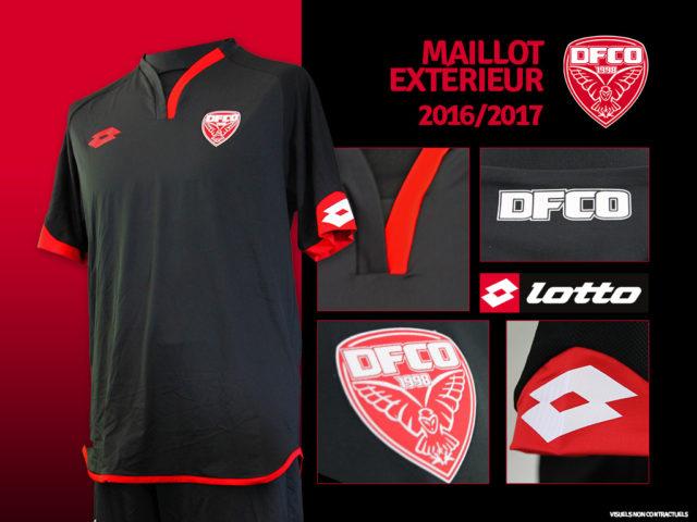 Dijon 2017 maillot exterieur football 2016 2017
