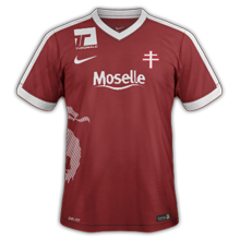 FC Metz 2017 maillot foot domicile