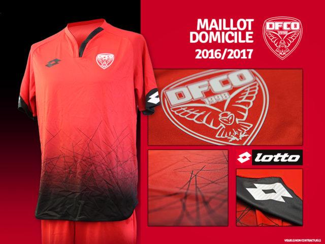 FCO Dijon 2017 maillot domicile foot