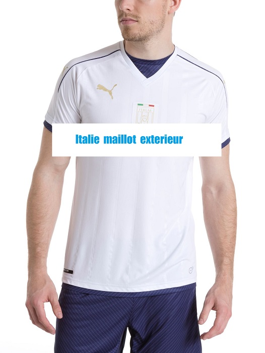 Italie 2017 maillot foot exterieur blanc qualifications