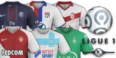 maillots L1 2016 2017