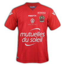 OGC Nice 4eme maillot foot rouge