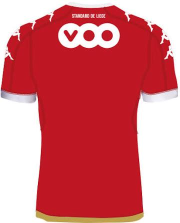 Standard de Liège 2017 dos du maillot domicile