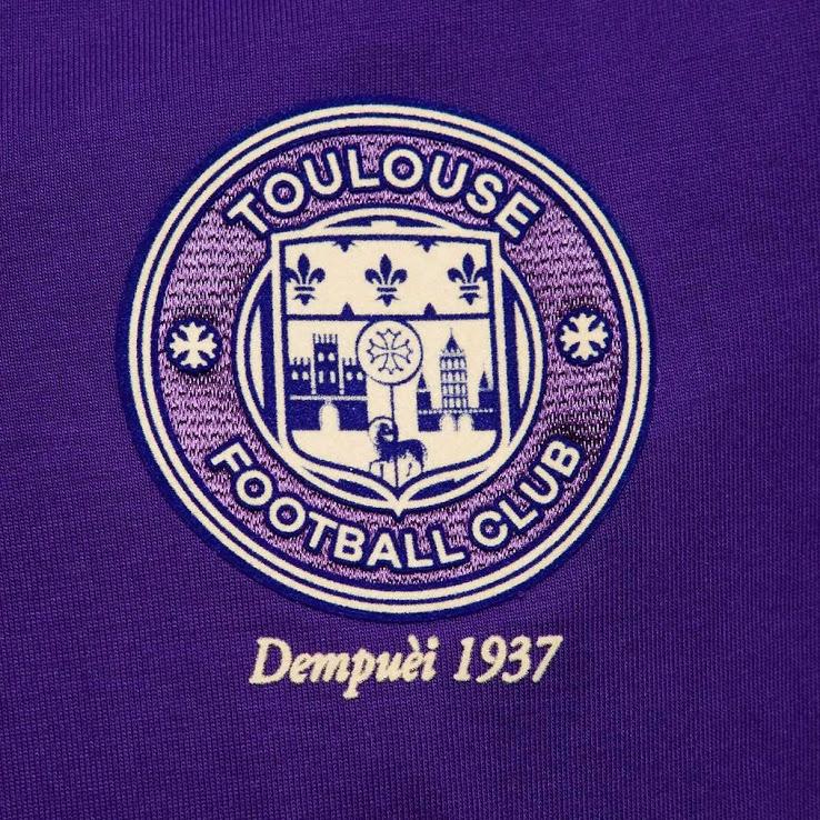 Toulouse 2017 blason maillot foot spécial anniversaire 80 ans