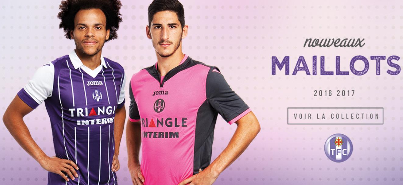 Toulouse 2017 nouveaux maillot football 2016-2017 TFC Joma