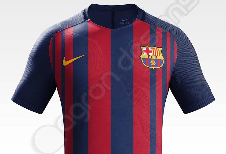 Barcelone 2018 fuite nouveau maillot football