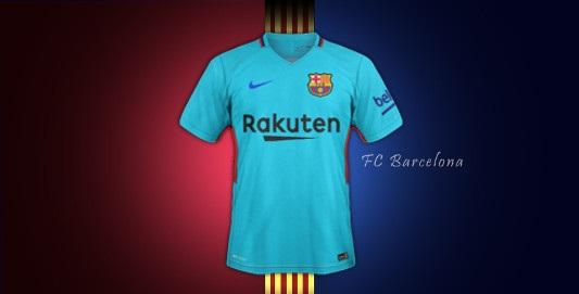 Barcelone 2018 maillot extérieur 17 18